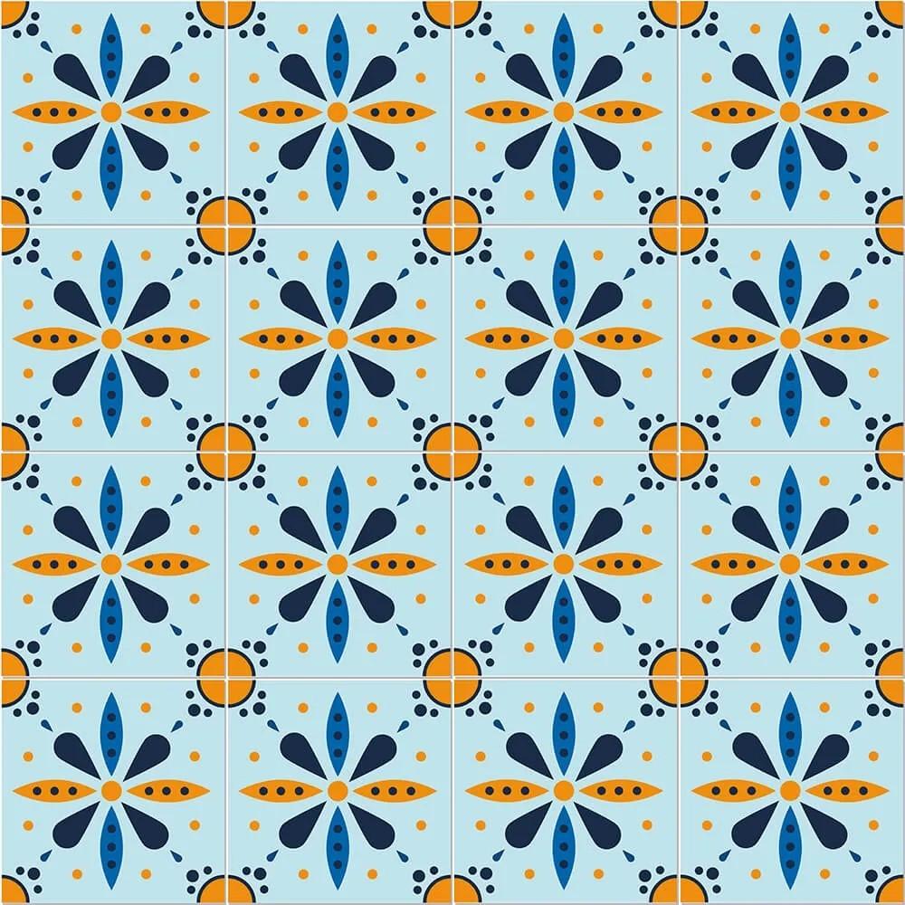 Adesivo de Azulejo Tons Azuis 2