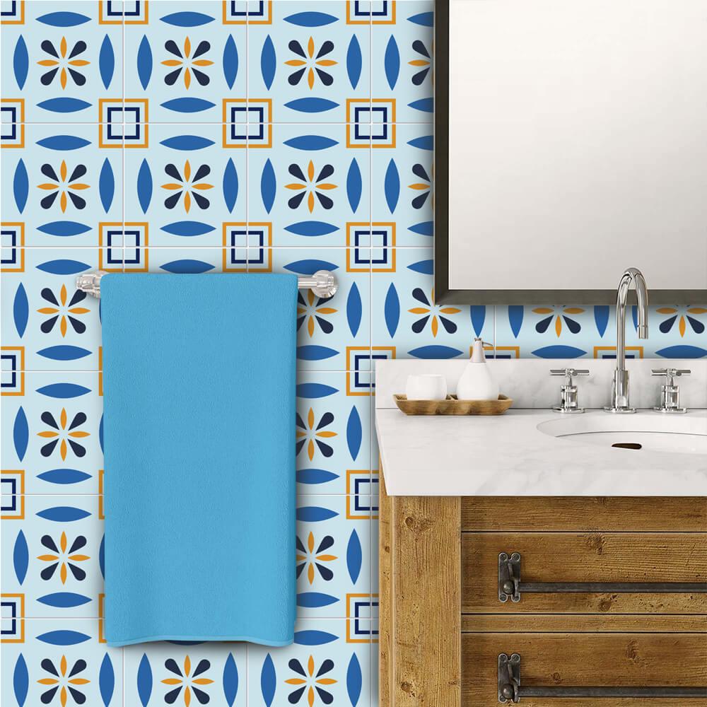 Adesivo de Azulejo Tons Azuis 3