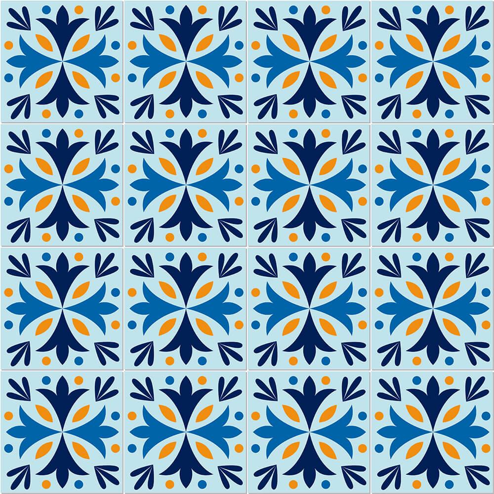 Adesivo de Azulejo Tons Azuis 4