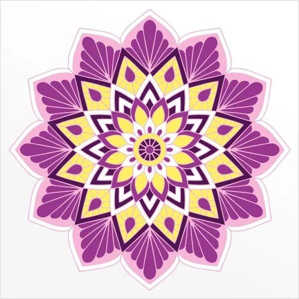 Adesivo de Parede Mandala Flor