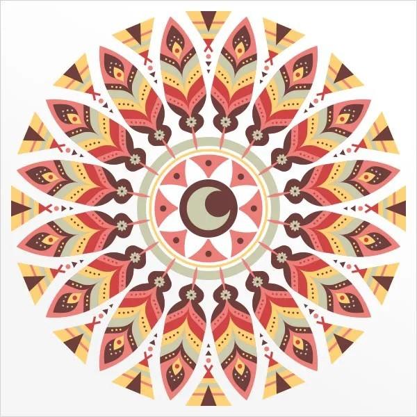 Adesivo de Parede Mandala Indígena
