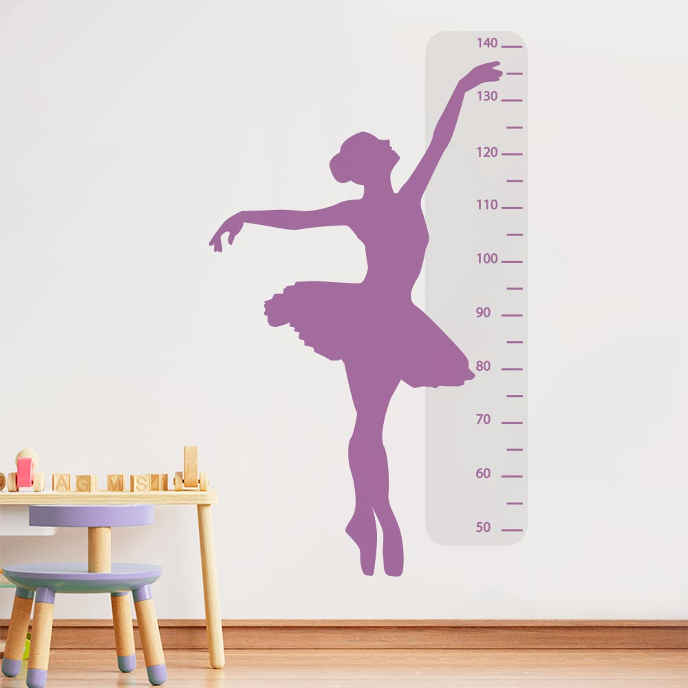 Adesivo de Parede Regua Infantil Bailarina 2