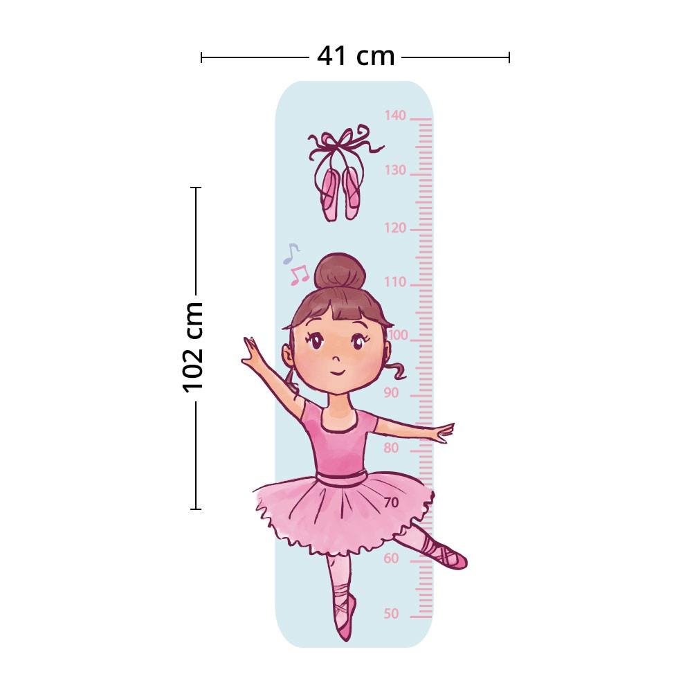 Adesivo de Parede Regua Infantil Bailarina 5