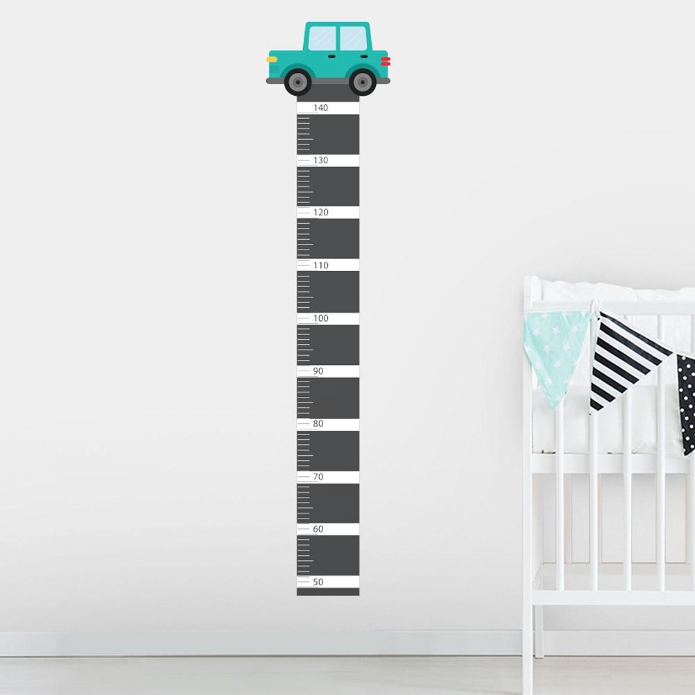 Adesivo de Parede Regua Infantil Carrinhos 2