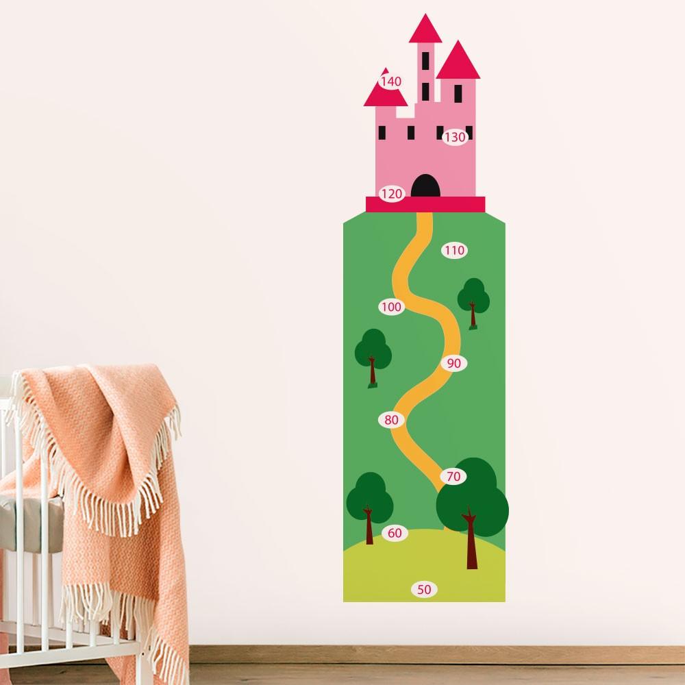 Adesivo de Parede Regua Infantil Castelo