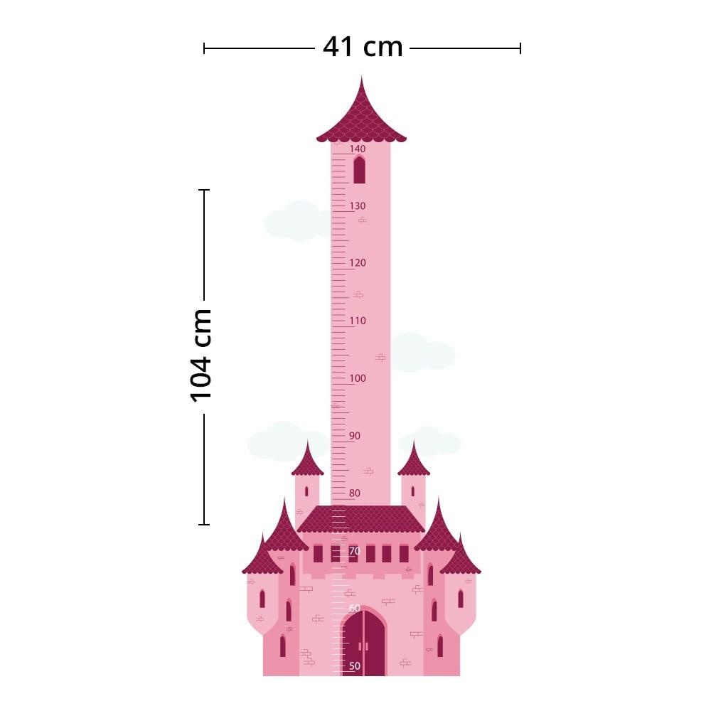 Adesivo de Parede Regua Infantil Castelo 4