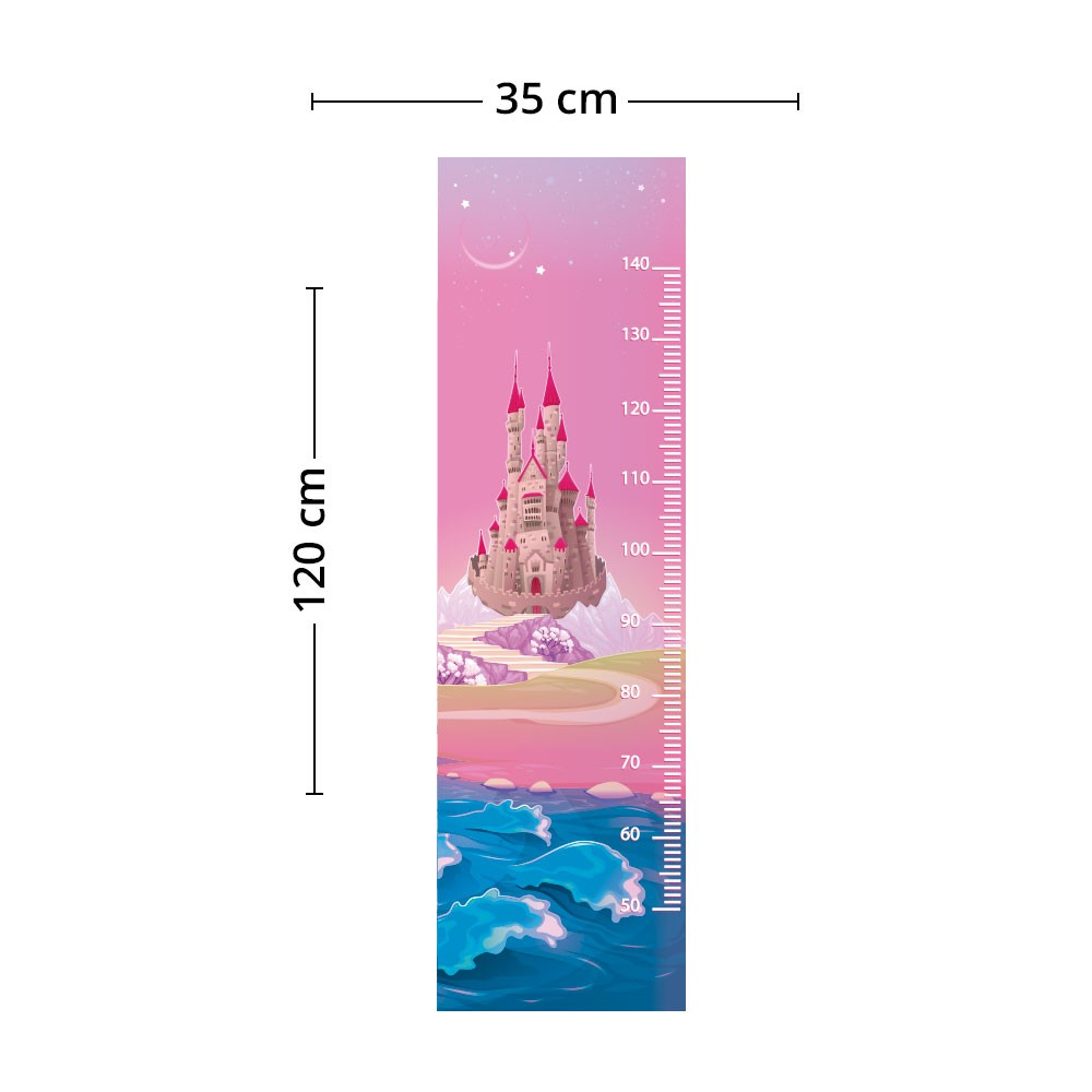 Adesivo de Parede Regua Infantil Castelo 5