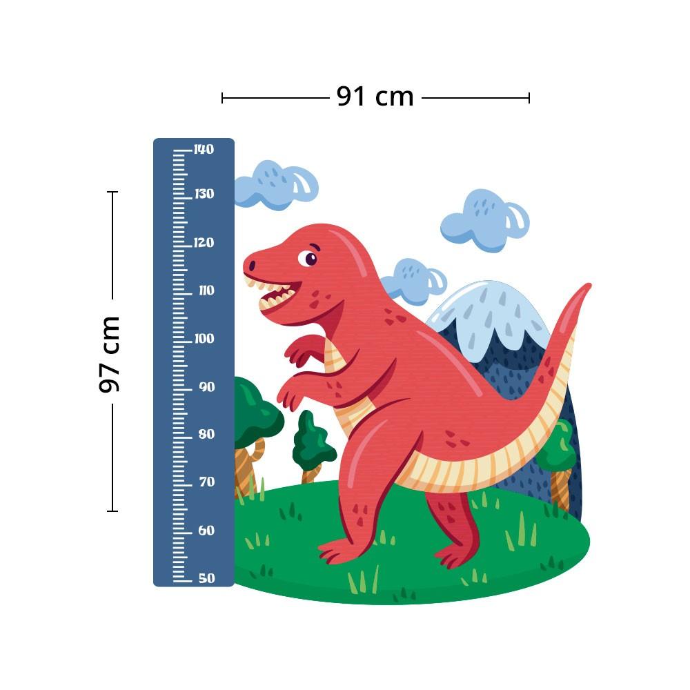 Adesivo de Parede Regua Infantil Dinossauro 4