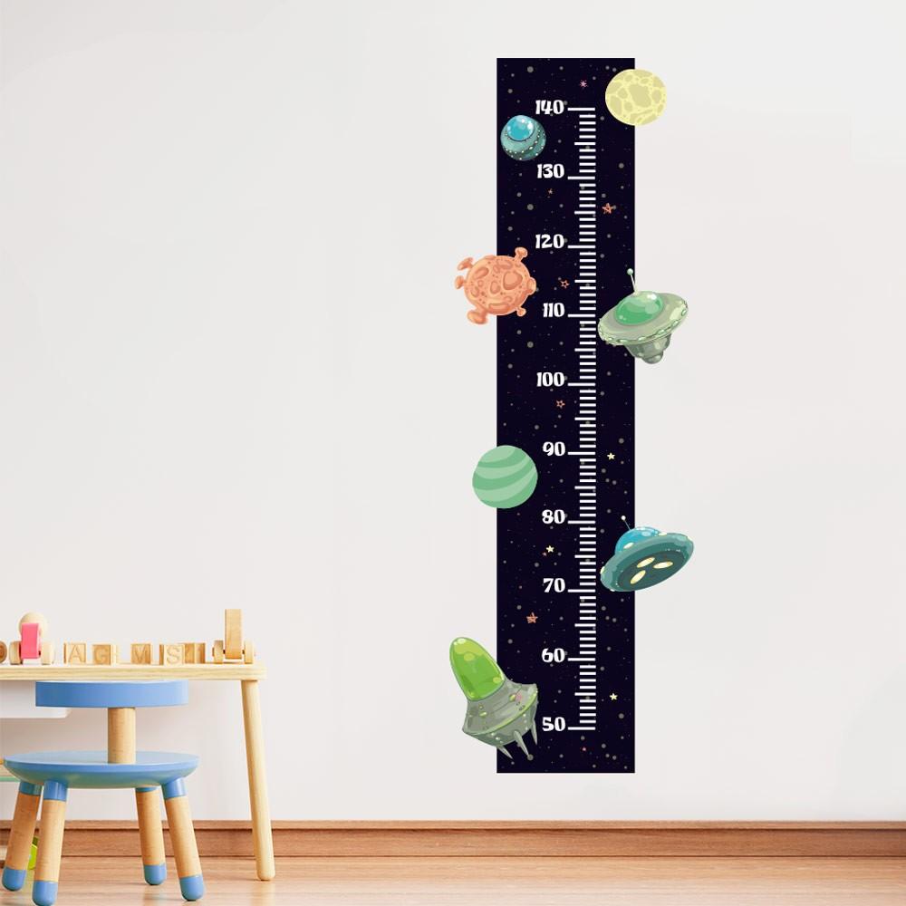 Adesivo de Parede Regua Infantil Espaço Sideral 1
