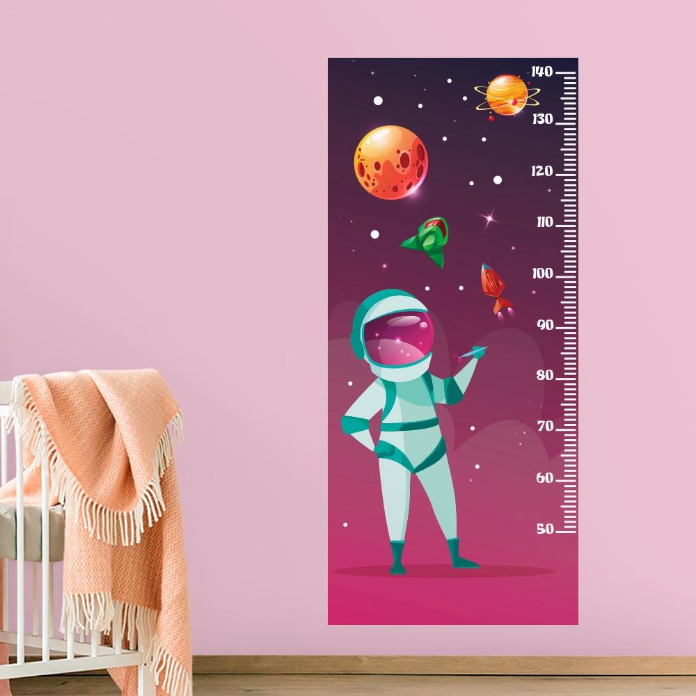 Adesivo de Parede Regua Infantil Espaço Sideral