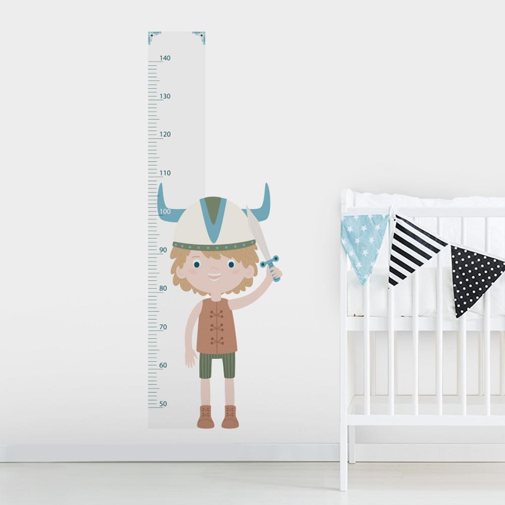 Adesivo de Parede Regua Infantil Little Vikings
