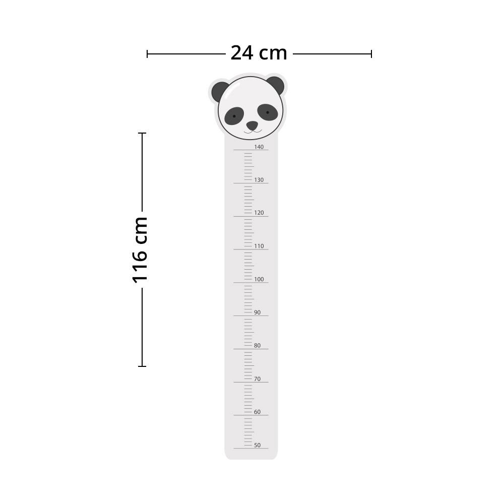 Adesivo de Parede Regua Infantil Panda 2