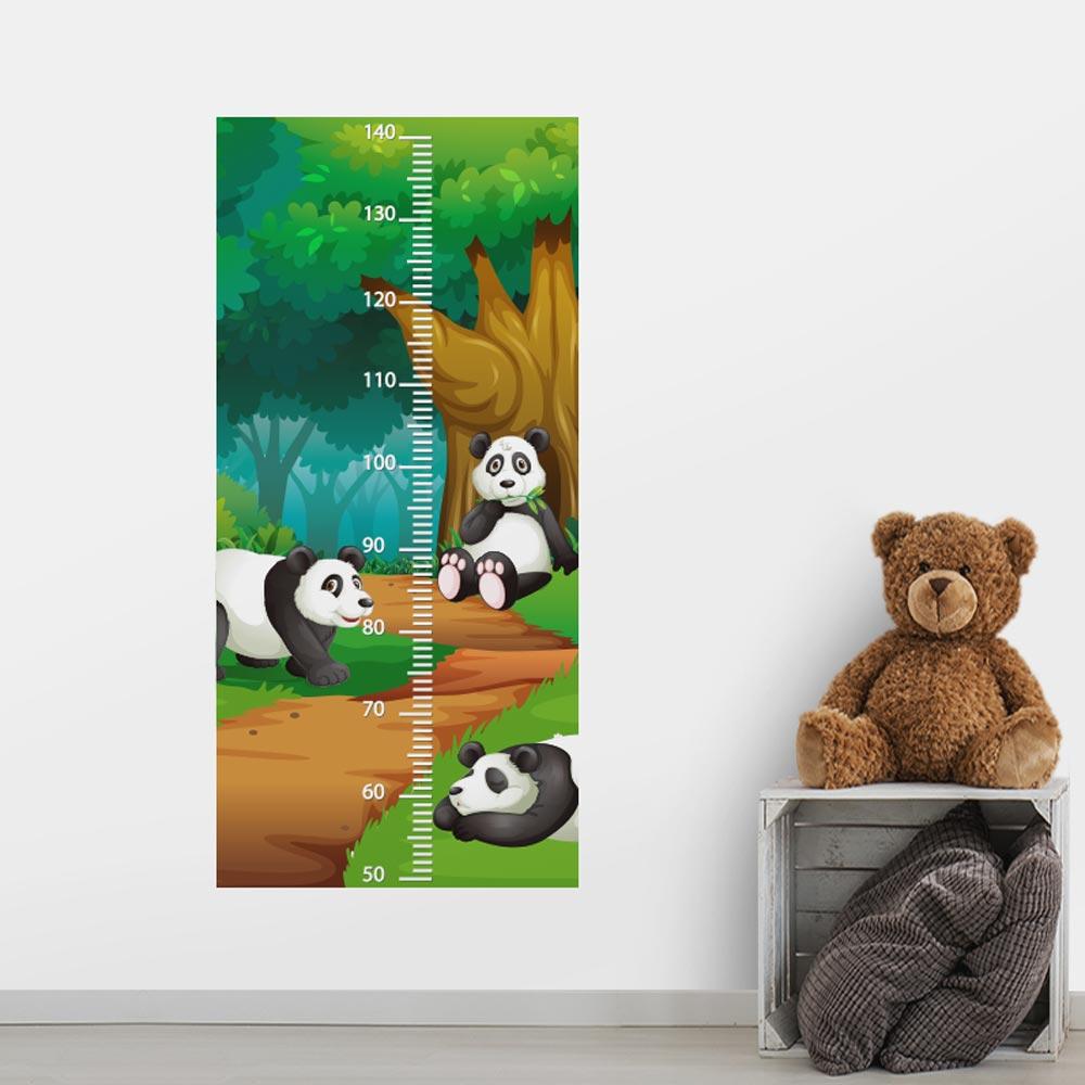 Adesivo de Parede Regua Infantil Panda 3