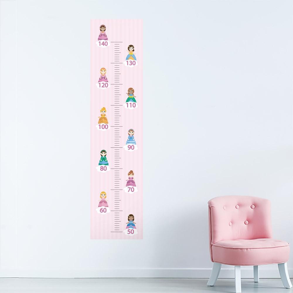 Adesivo de Parede Regua Infantil Princesas 1