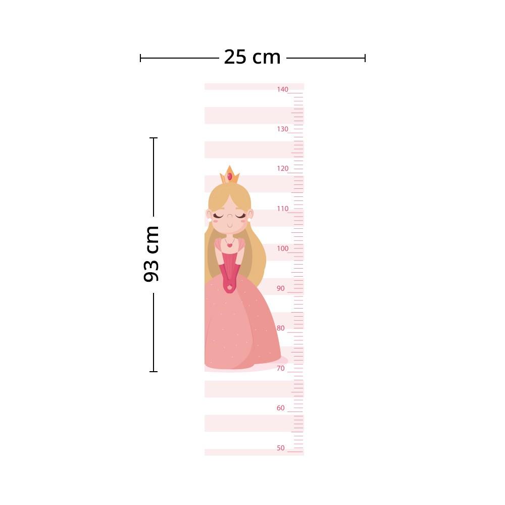 Adesivo de Parede Regua Infantil Princesas 2