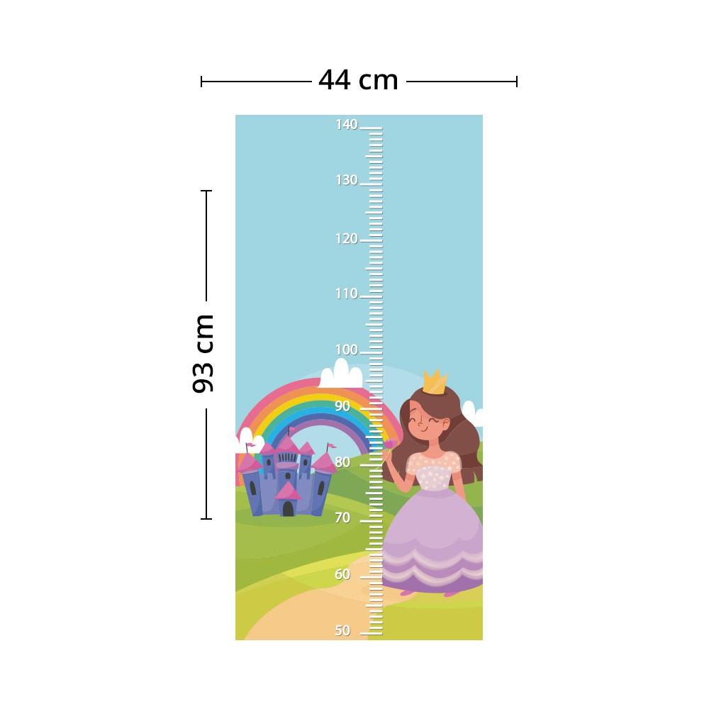 Adesivo de Parede Regua Infantil Princesas 4