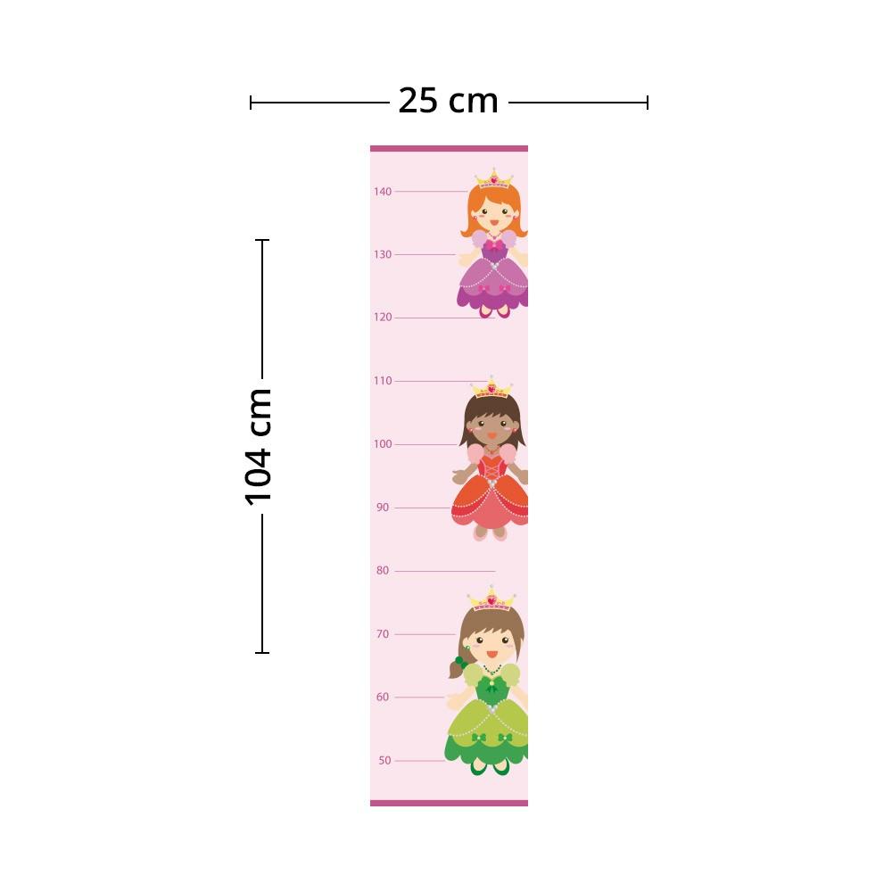 Adesivo de Parede Regua Infantil Princesas 5