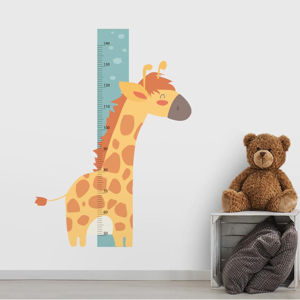 Adesivo de Parede Regua Infantil Safari Girafa 2