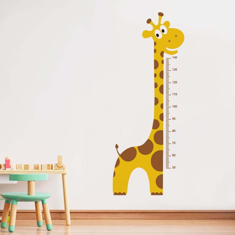 Adesivo de Parede Regua Infantil Safari Girafa 3