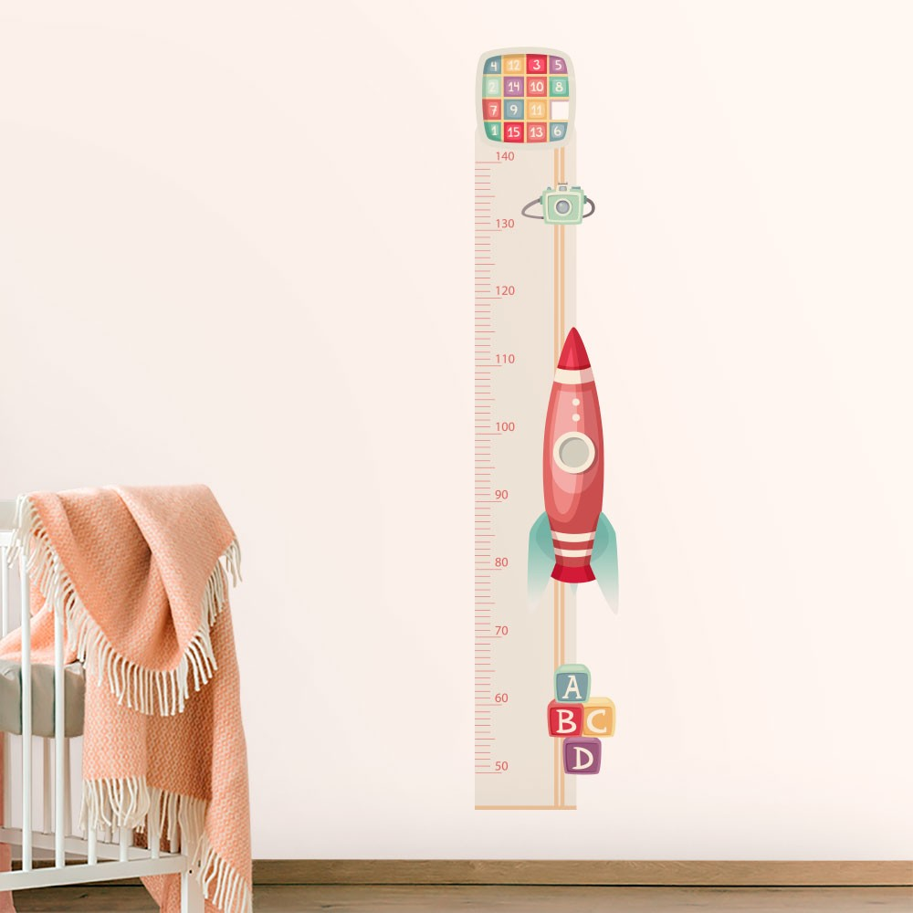 Adesivo de Parede Regua Infantil Toys Retrô