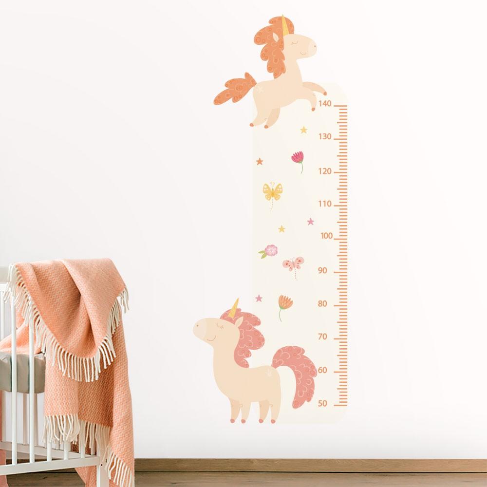 Adesivo de Parede Regua Infantil Unicórnio