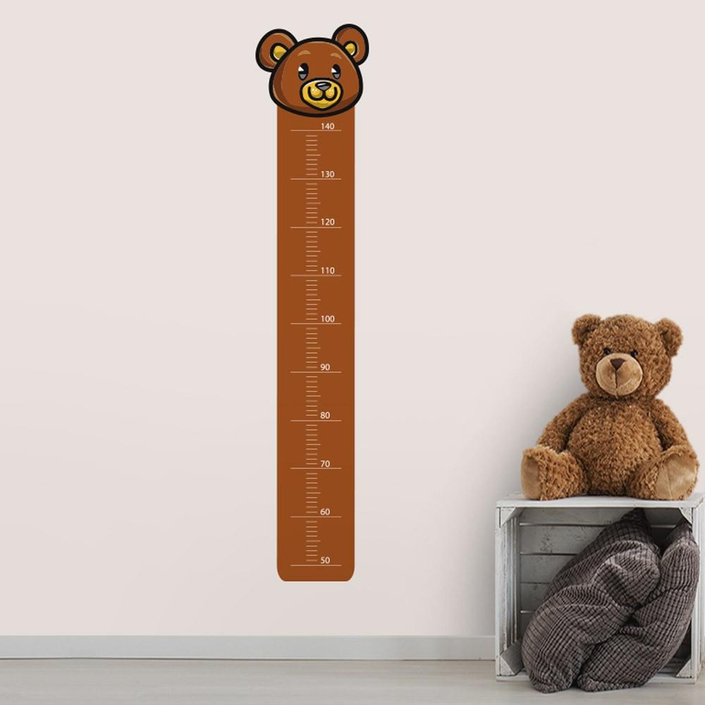 Adesivo de Parede Regua Infantil Urso Simpático