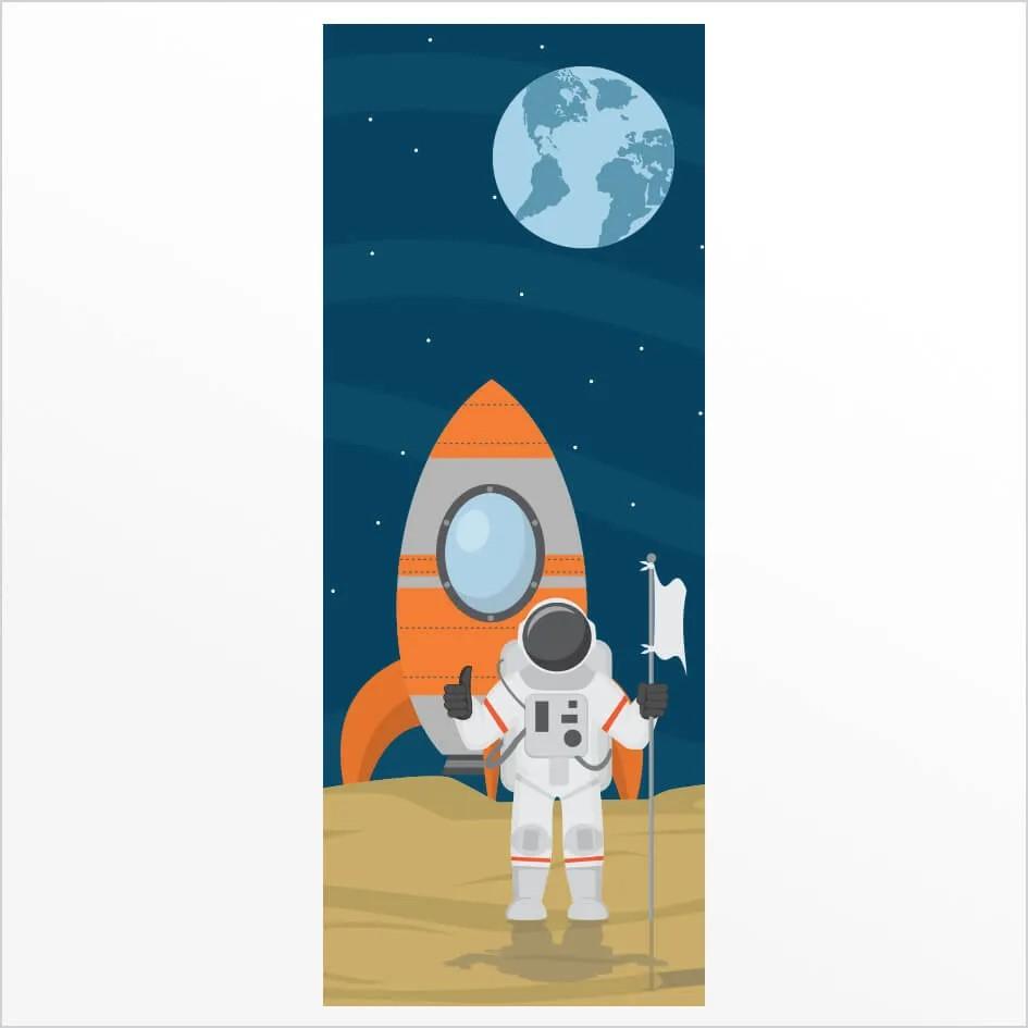Adesivo de Porta Astronauta