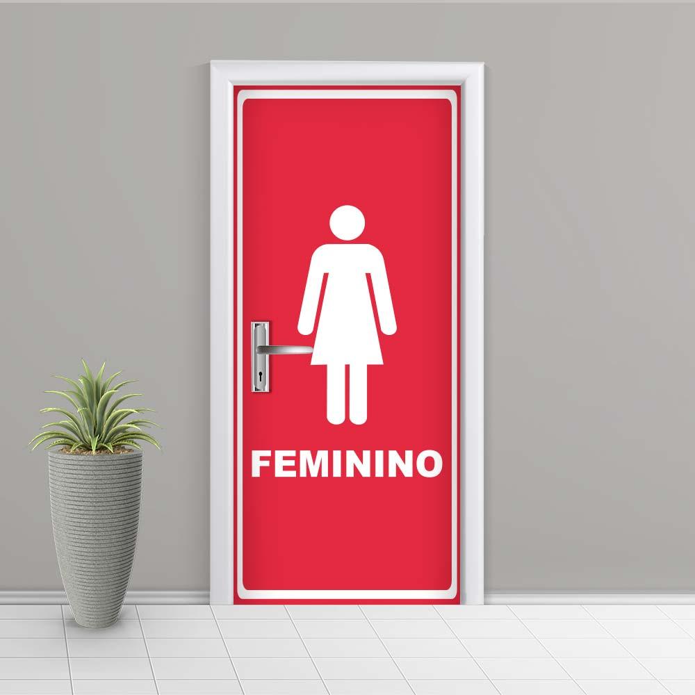 Adesivo de Porta Banheiro Feminino 3