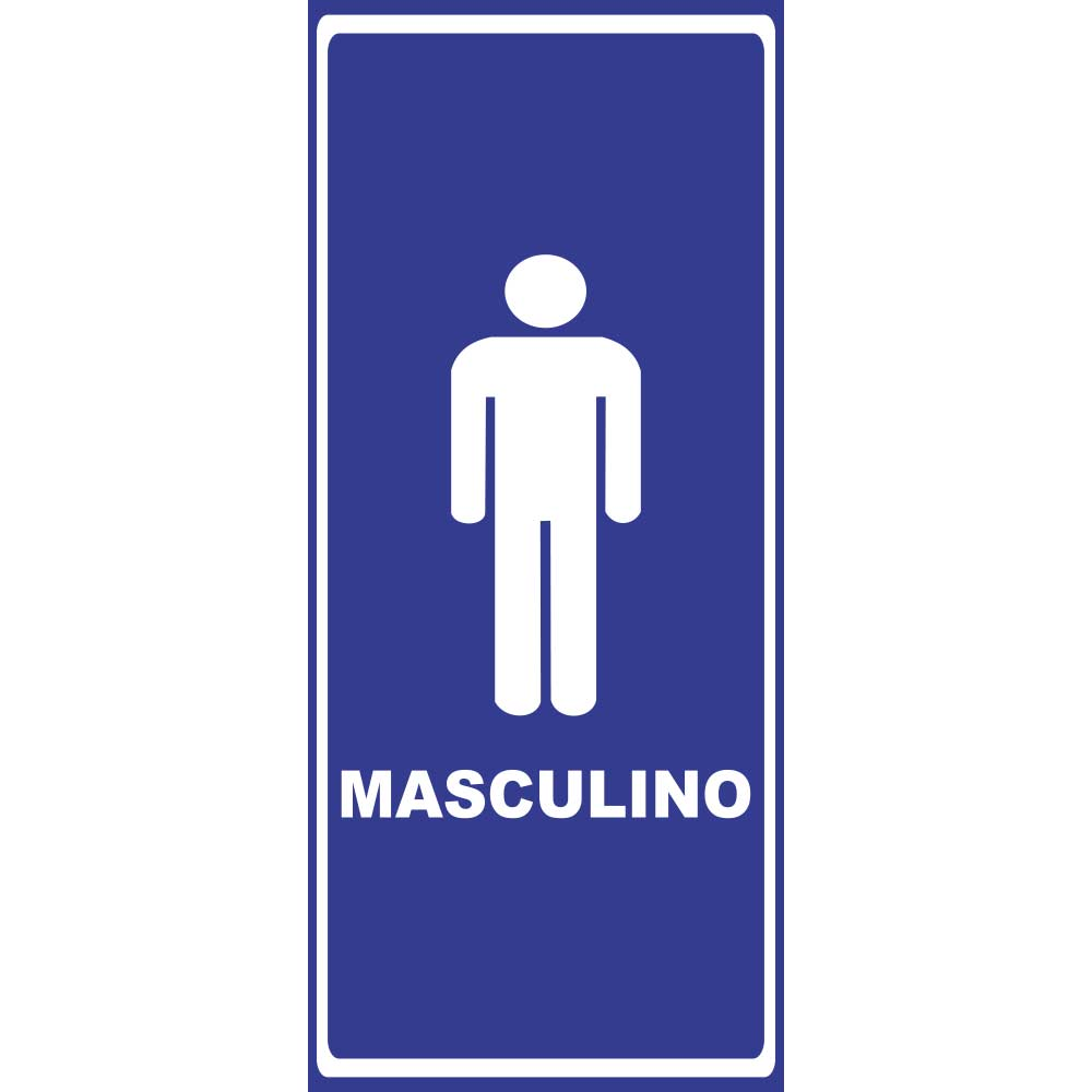 Adesivo de Porta Banheiro Masculino 3