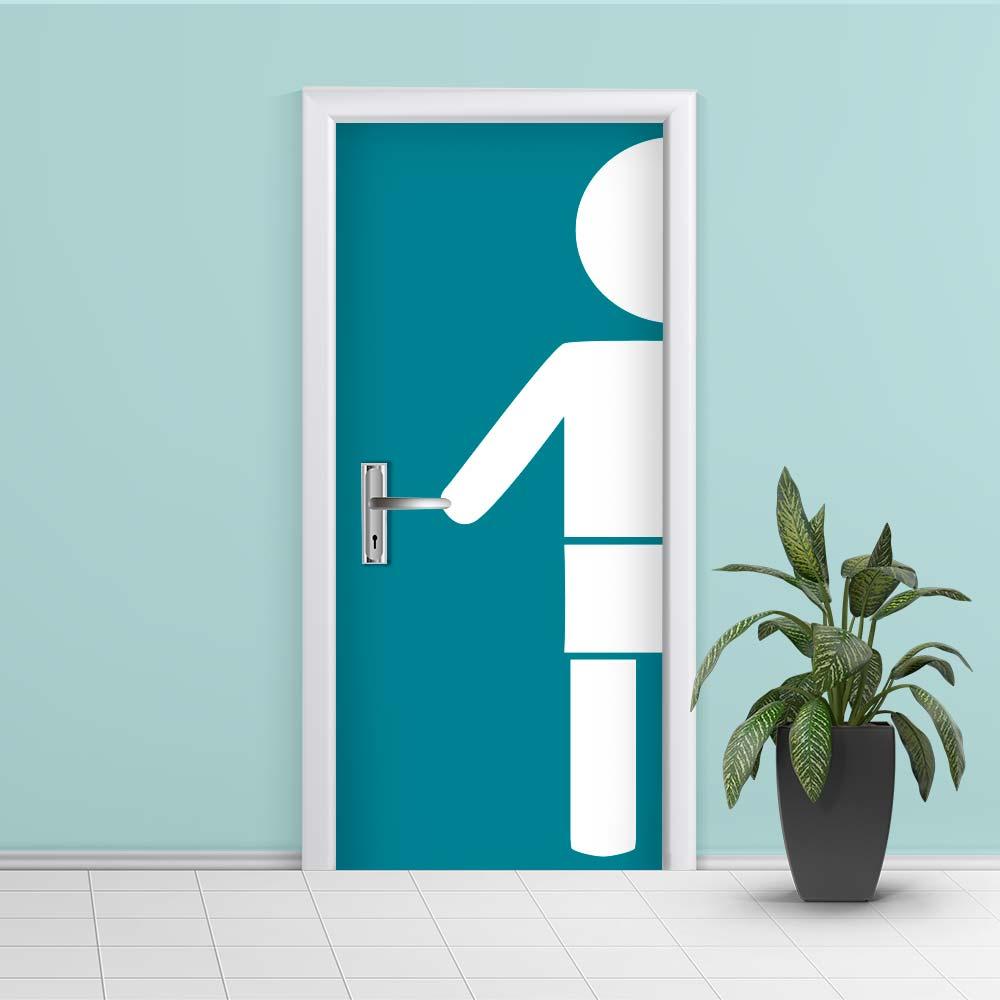 Adesivo de Porta Banheiro Menino
