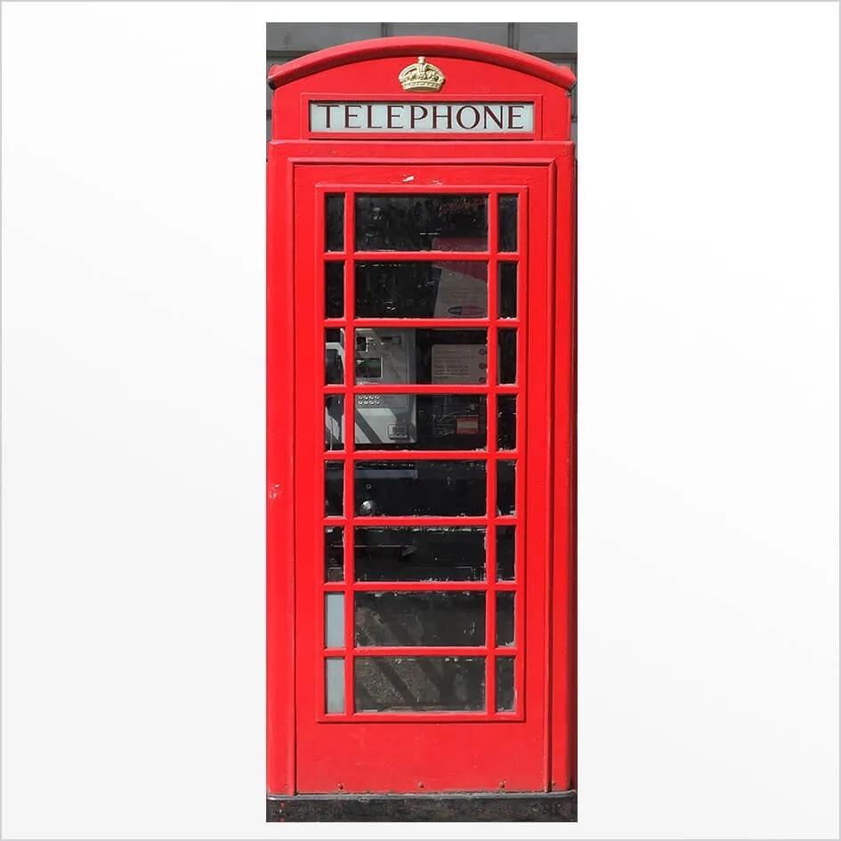 Adesivo de porta Cabine Telefone Londres