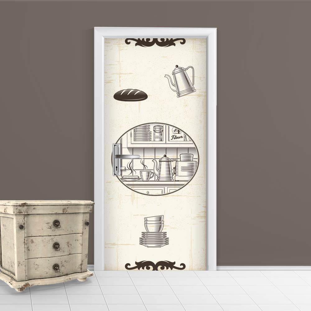 Adesivo de Porta Café 1
