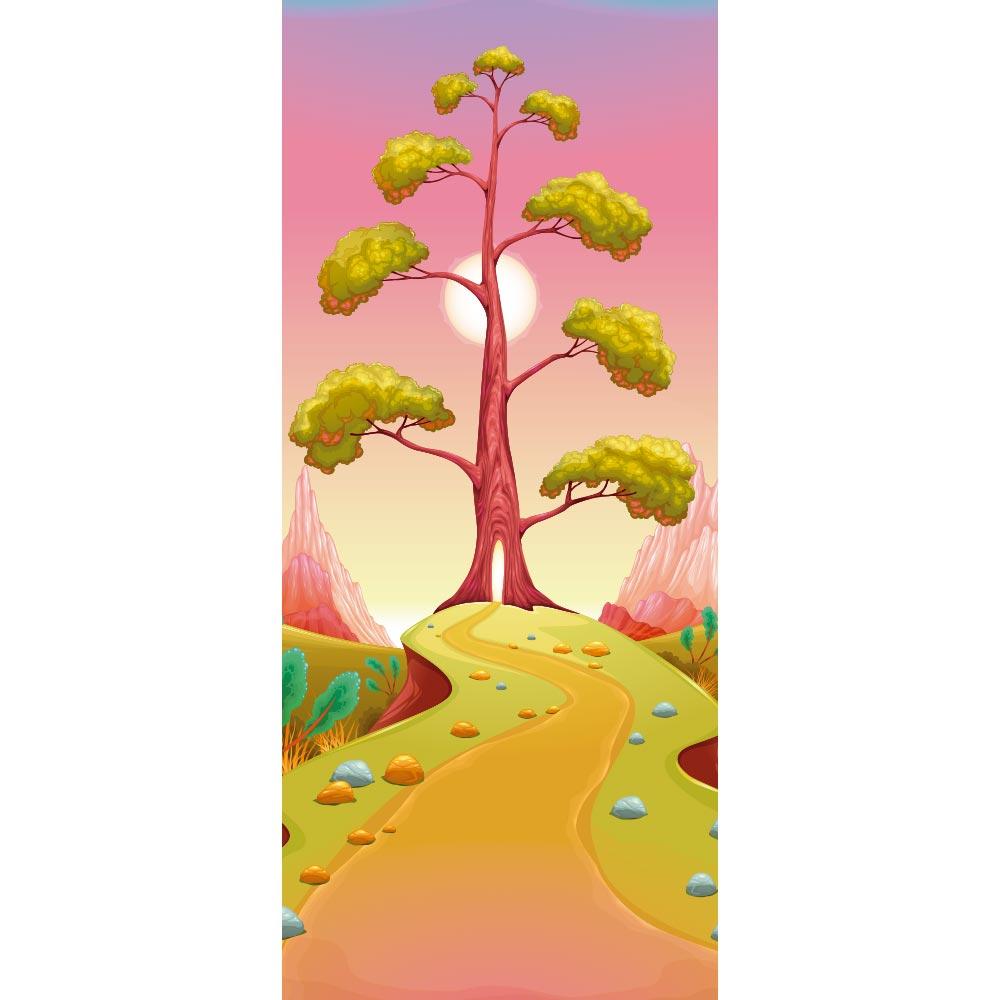 Adesivo de Porta Caminho pela Árvore