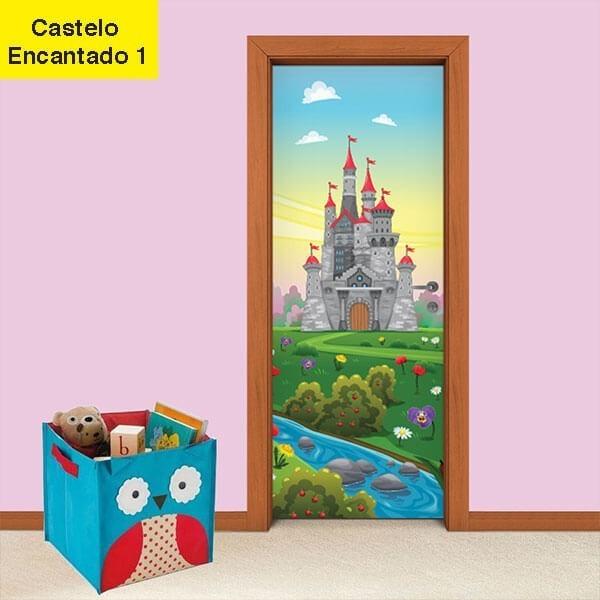 Adesivo de Porta Castelo Encantado 1