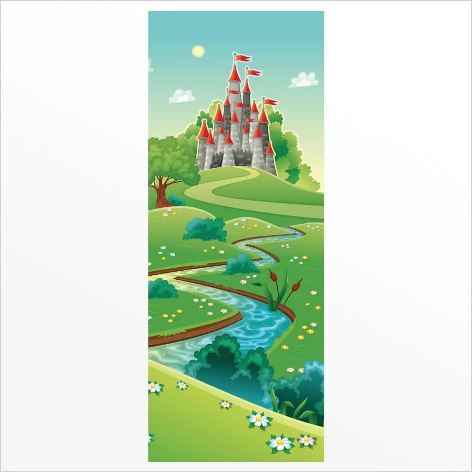 Adesivo de Porta Castelo Encantado 2
