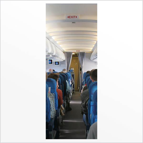 Adesivo de porta Corredor de Avião