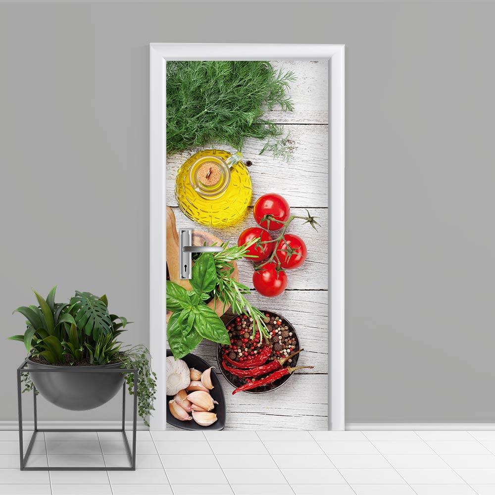 Adesivo de Porta Cozinha 1