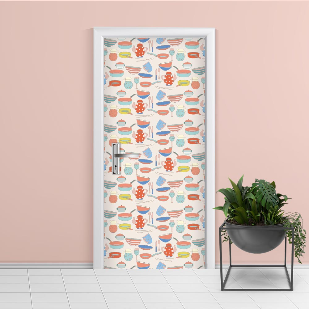 Adesivo de Porta Cozinha 6