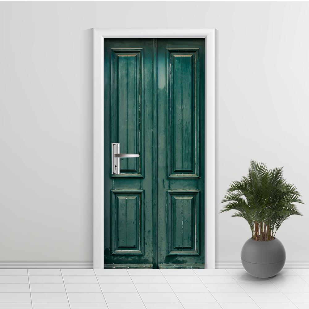 Adesivo de Porta Envelhecida Verde