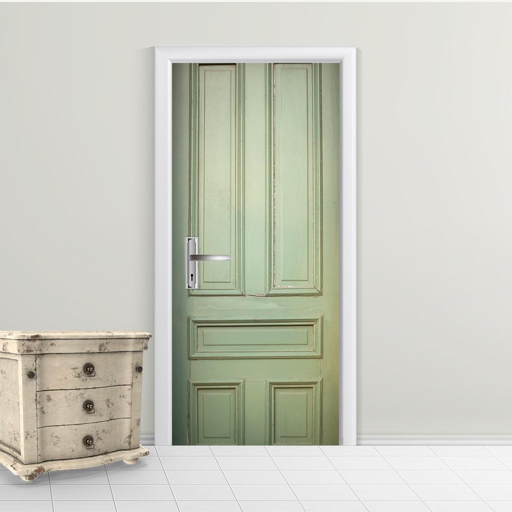 Adesivo de Porta Envelhecida Verde 2