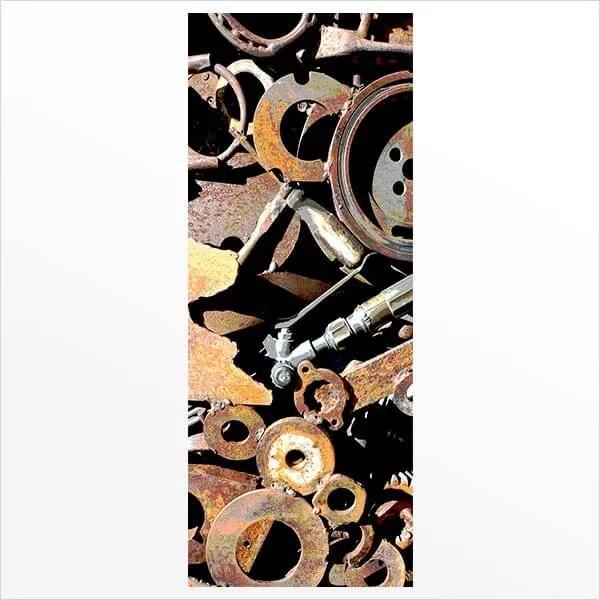 Adesivo de Porta Ferro Velho