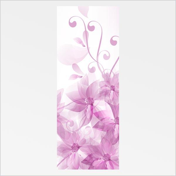 Adesivo de Porta Floral Abstrato 2