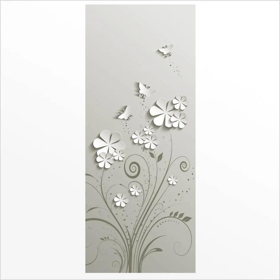 Adesivo de Porta Flores 3D