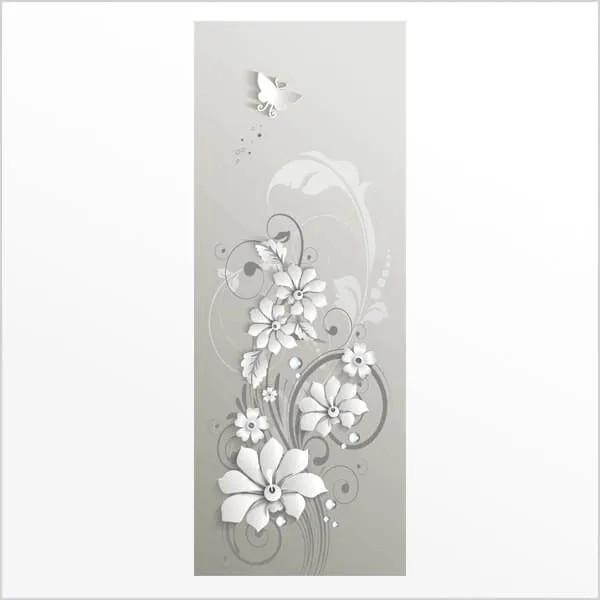 Adesivo de Porta Flores 3D 2