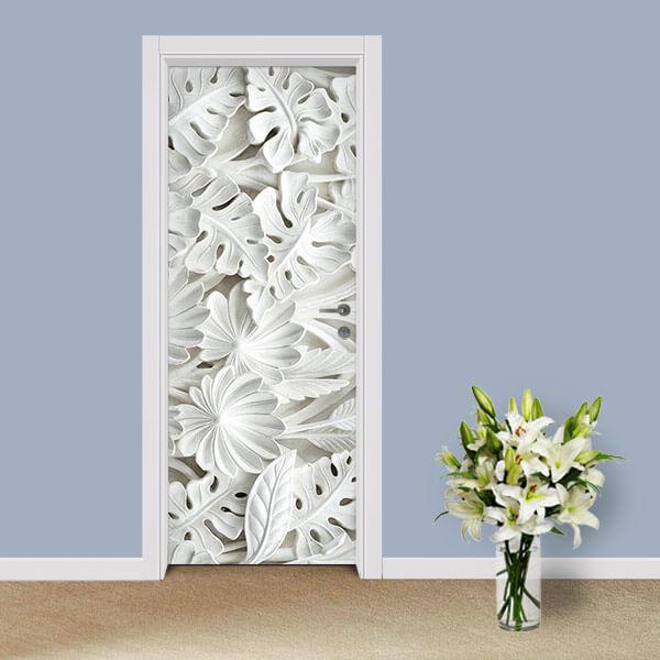 Adesivo de Porta Flores Relevo