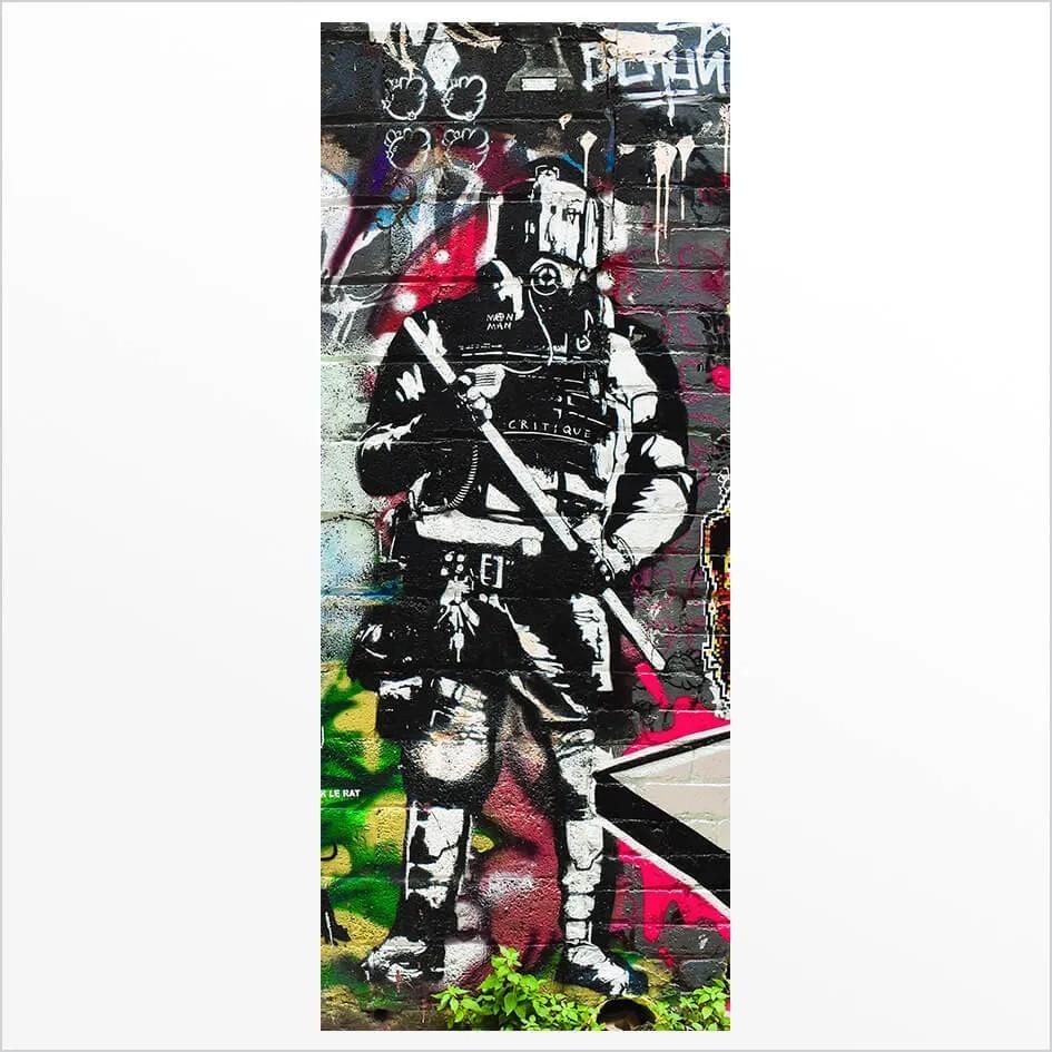 Adesivo de Porta Grafite 2