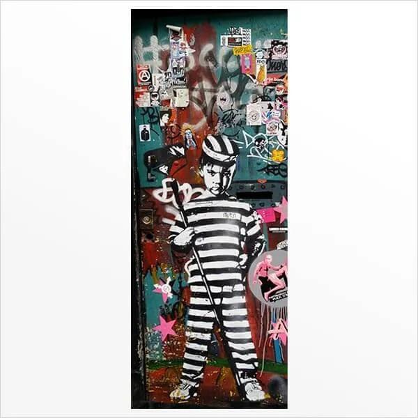 Adesivo de Porta Grafite 4