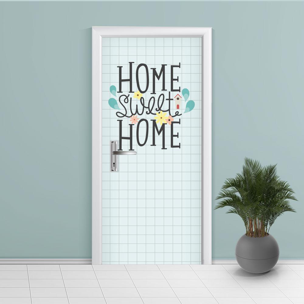 Adesivo de Porta Home Sweet Home
