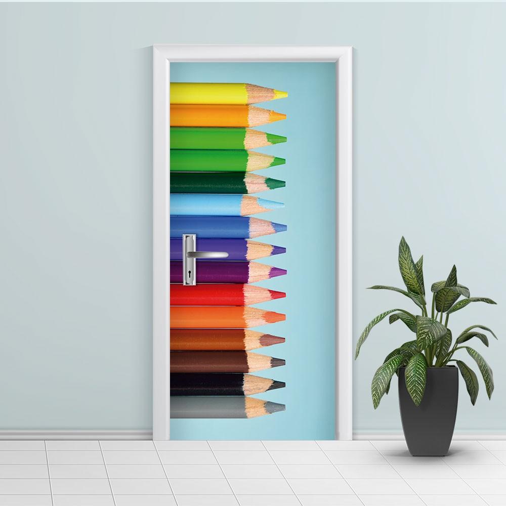 Adesivo de Porta Lápis Colorido