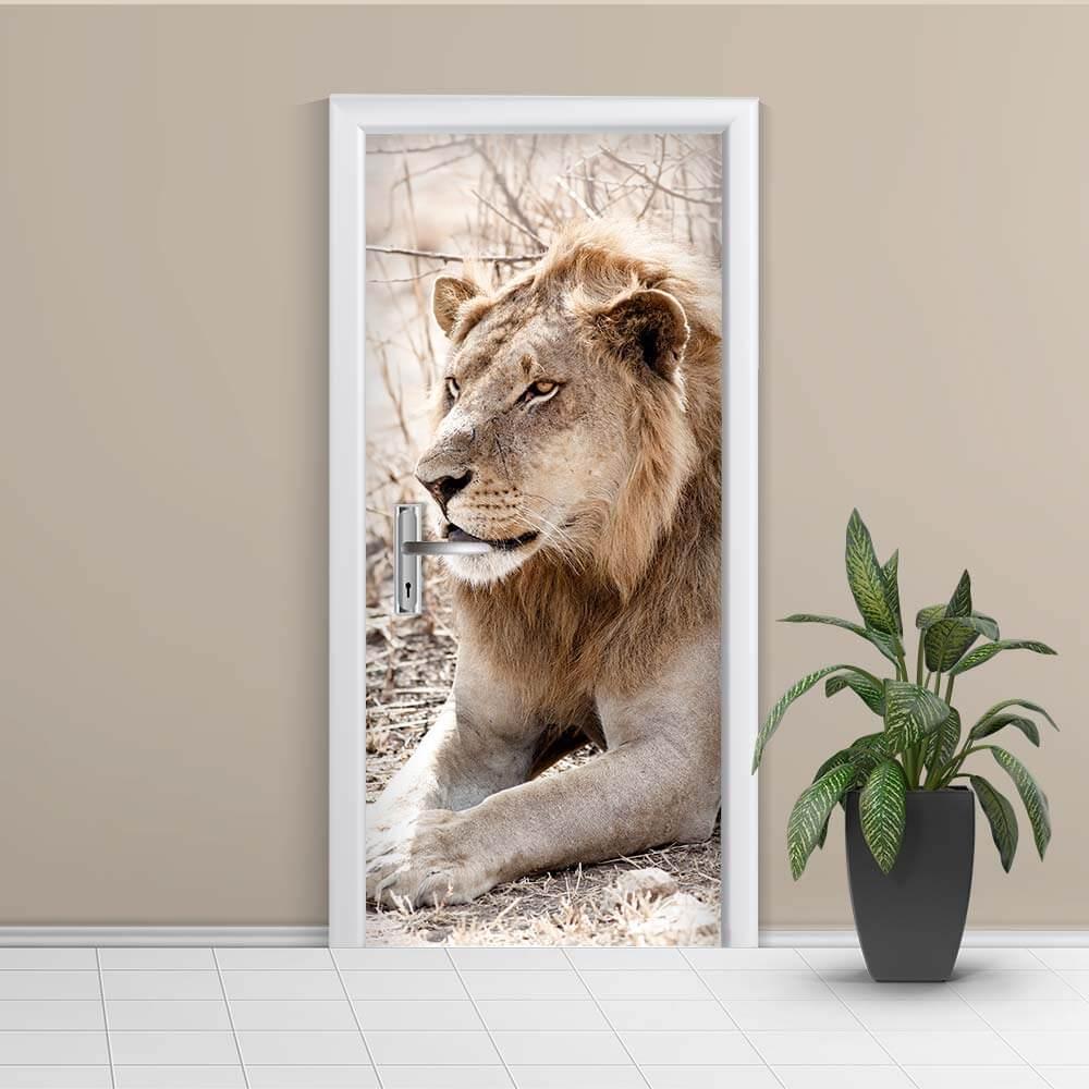 Adesivo de Porta Leão
